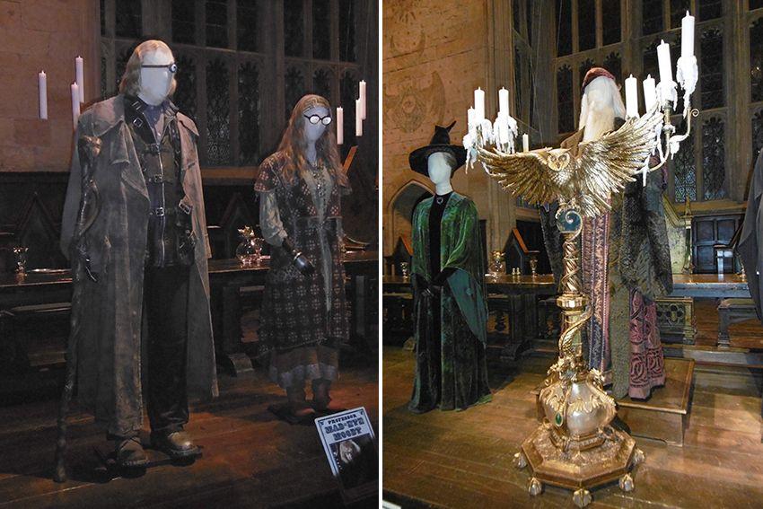 LEs professeurs de Poudlard au Studio Harry Potter de Londres.