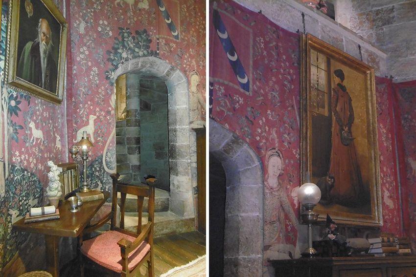 Détails du salon de Gryffondor au Studio Harry Potter de Londres.