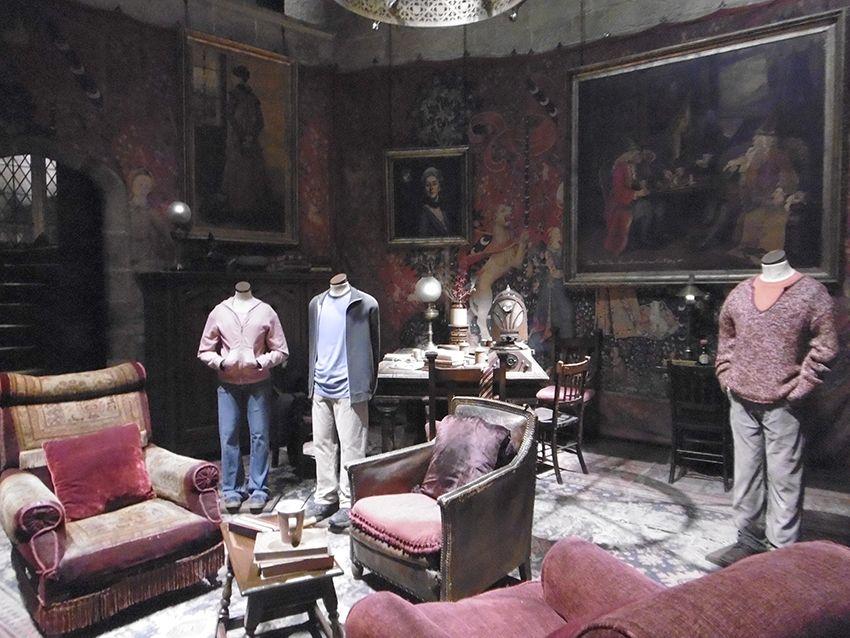 Salon des Gryffondor au Studio Harry Potter de Londres.