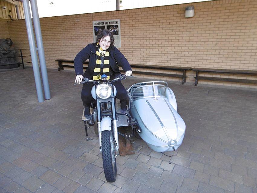 Side car magique d'Hagrid au Studio Harry Potter de Londres.
