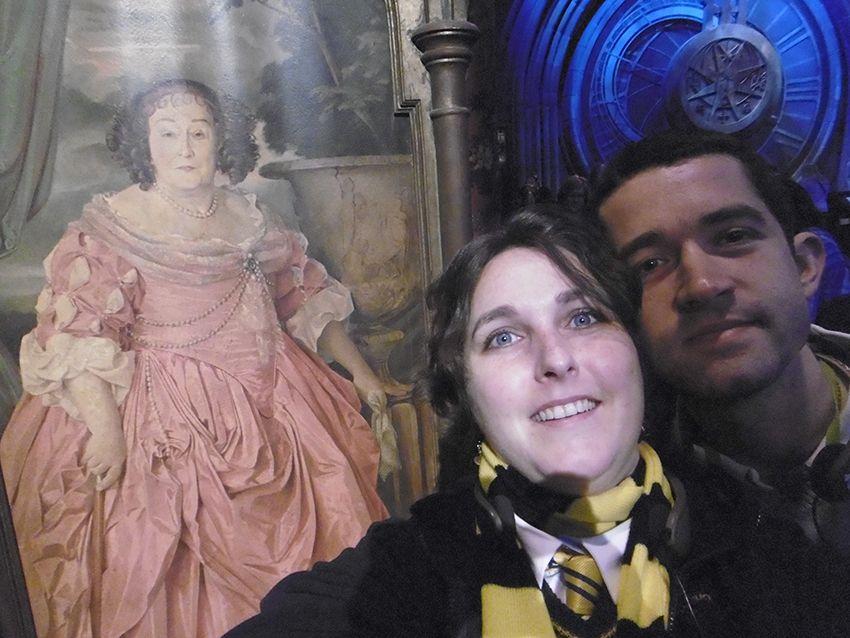 Tableau de la grosse dame au Studio Harry Potter de Londres.