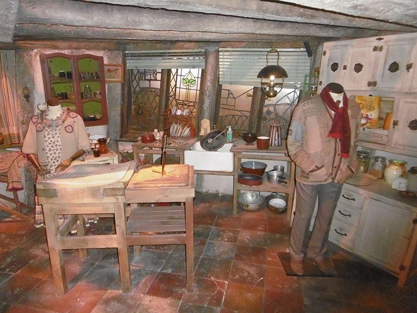 Le terrier de la famille Weasley au Studio Harry Potter de Londres.