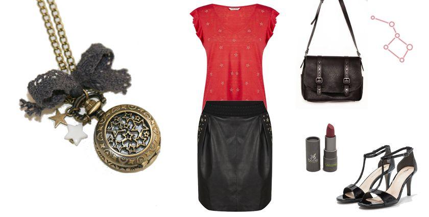 Sélection shopping mode astronomie, quoi porter avec bijoux étoiles Divine et Féminine.