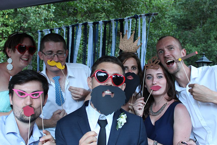 Animations de notre mariage : le stand photobooth.
