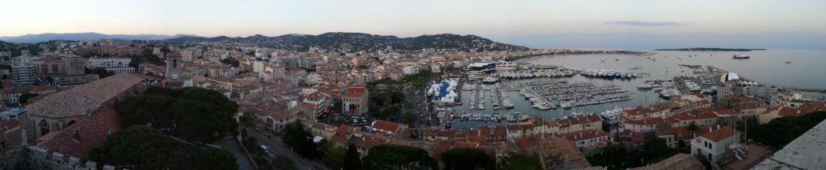 Cannes, panorama depuis la tour du musée de la Castre au Suquet.