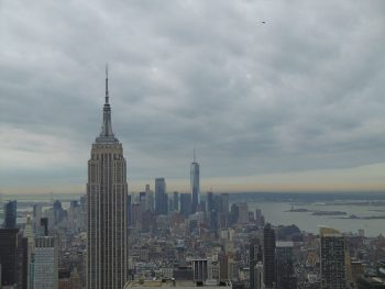 New York Top of the Rock vue sur Empire State Building.