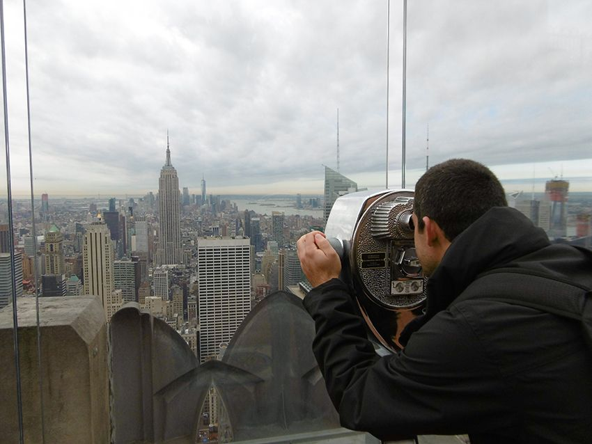 Observation de New-York depuis le Top of the Rock.