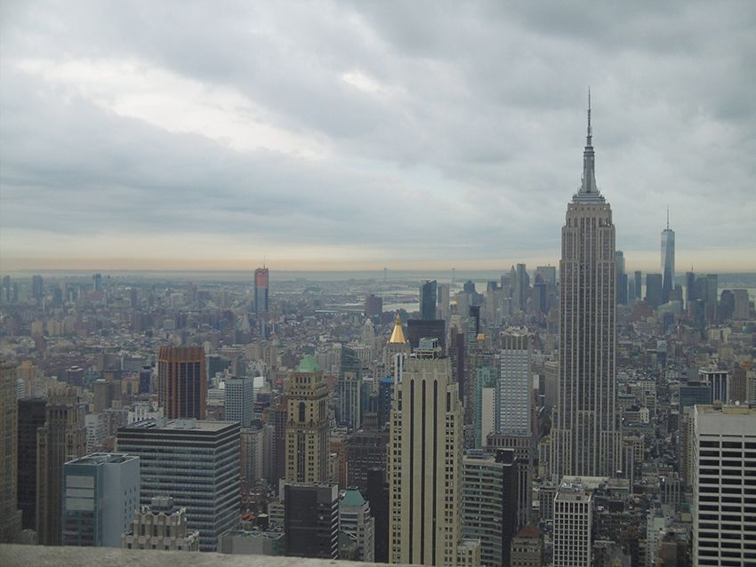Panorama de New-York depuis le Top of the Rock.