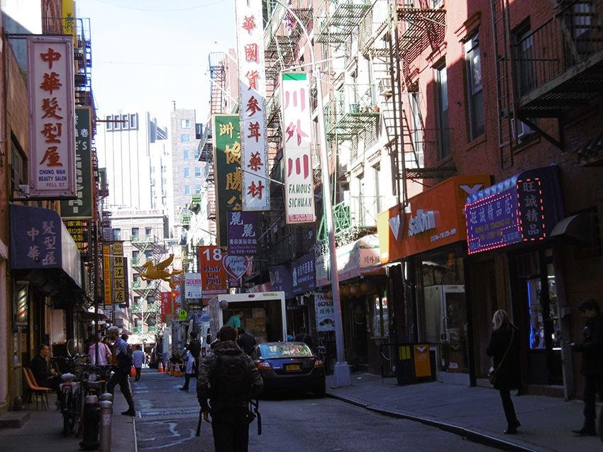 Quartier de Chinatown à New-York.