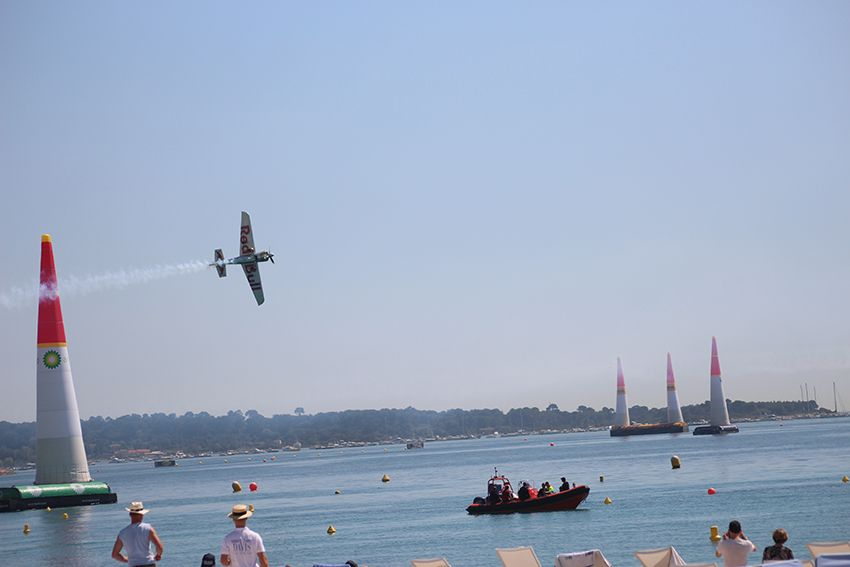 Red Bull Air Race à Cannes, en Avril 2018.