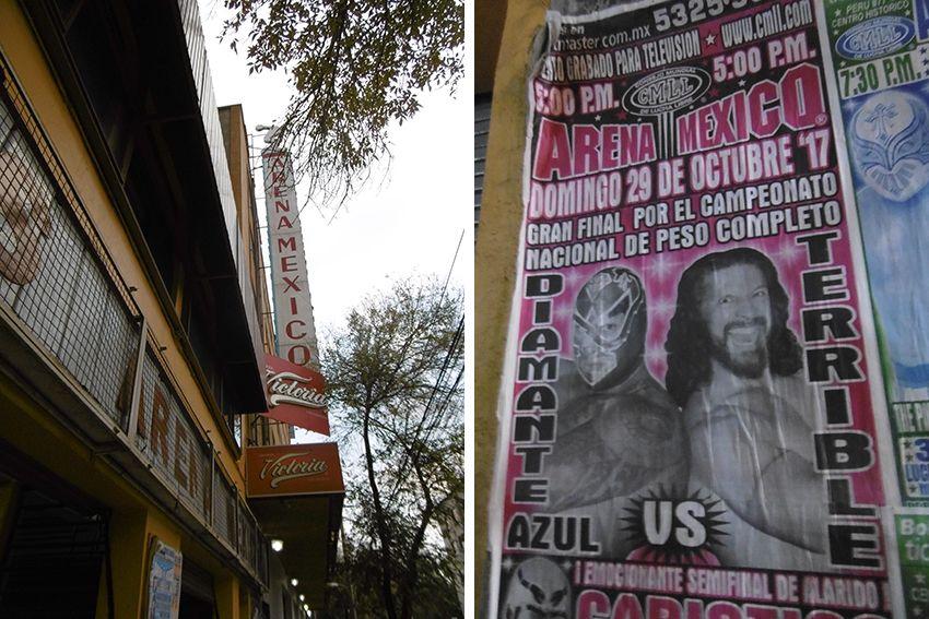 Arena Mexico, combat de lucha libre.