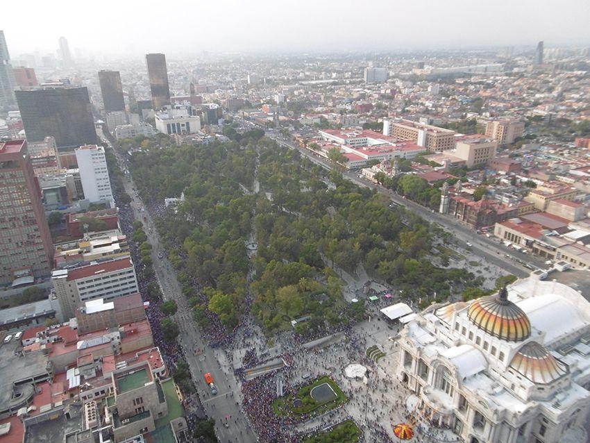 Alameda central à Maexico vue depuis la torre latinoamericana.