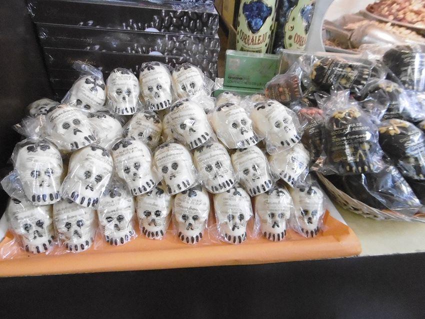calaveras en chocolat à Mexico