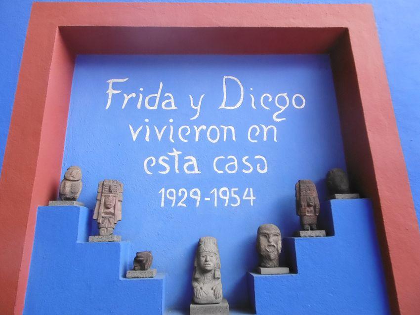 Casa Azul de Frida et Diego à Mexico.