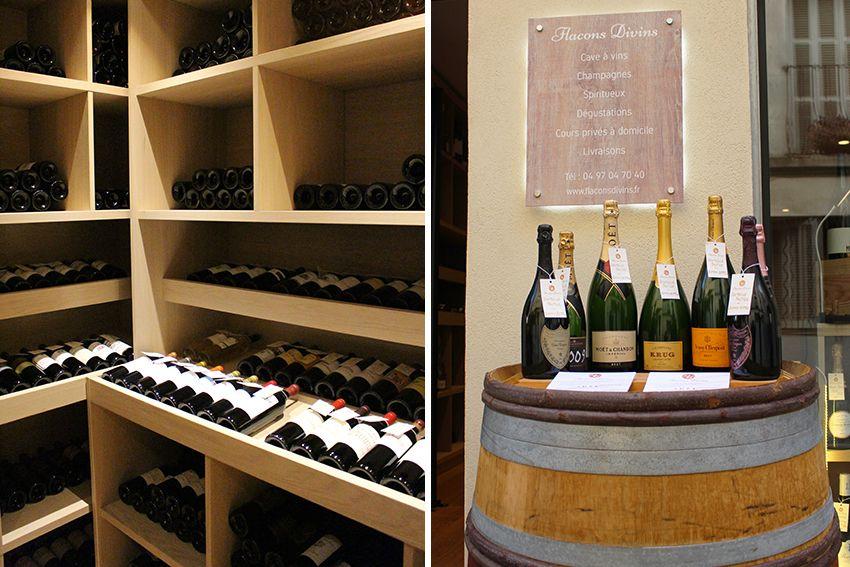 Cave à vins, champagnes et spiritueux d'Antibes : Flacons Divins.