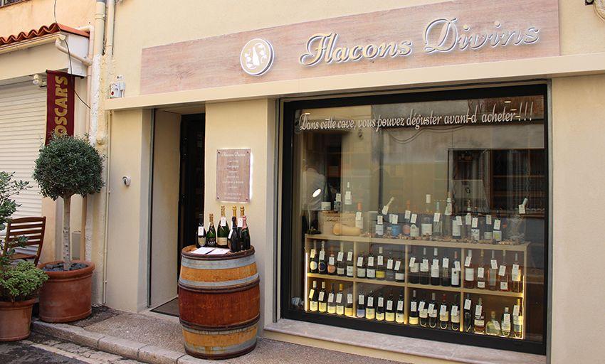 Flacons Divins excellente cave à vins d'Antibes.