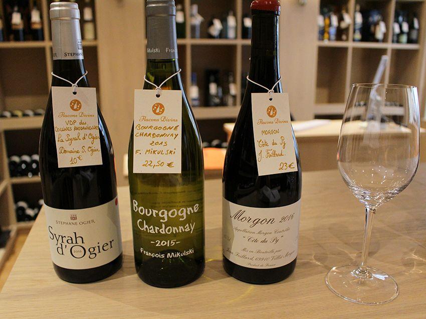 Sélections de vins chez Flacons Divins à Antibes.