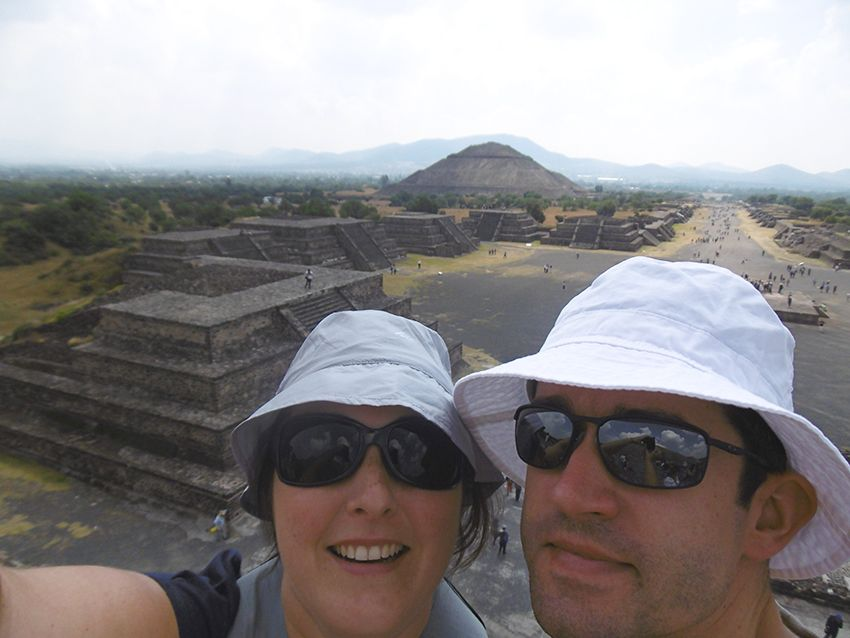 Voyage de noces au Mexique, site de Teotihuacan.