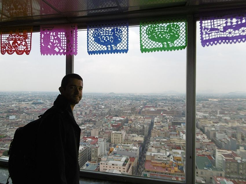 Vue depuis la Torre latinoamericana à Mexico.
