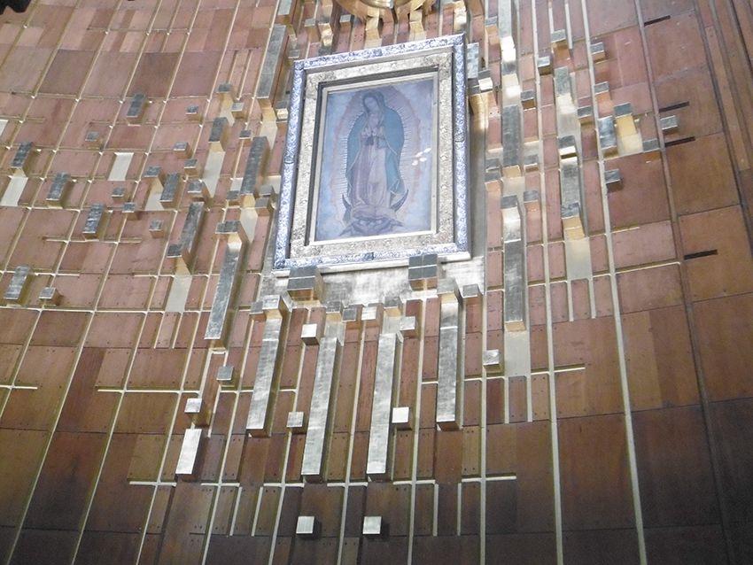 Notre Dame de Guadalupe vierge sur tissu.