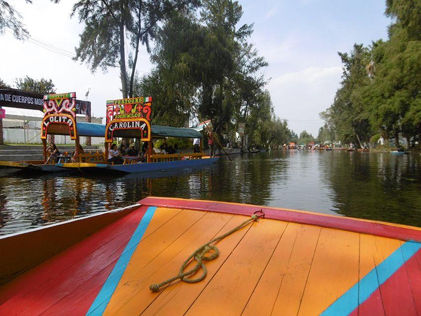 Barque de Xochimilco à Mexico.