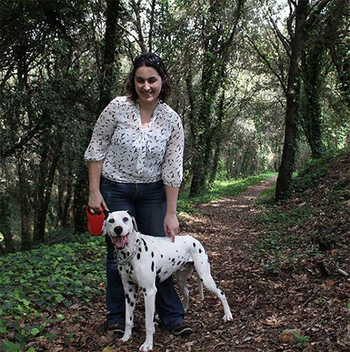 Anne-Claude et Domino (dalmatien) blogueuse du divine et féminine.