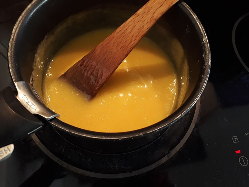 Crème d'oranges pour réaliser ma recette de gâteau fondant à l'orange.