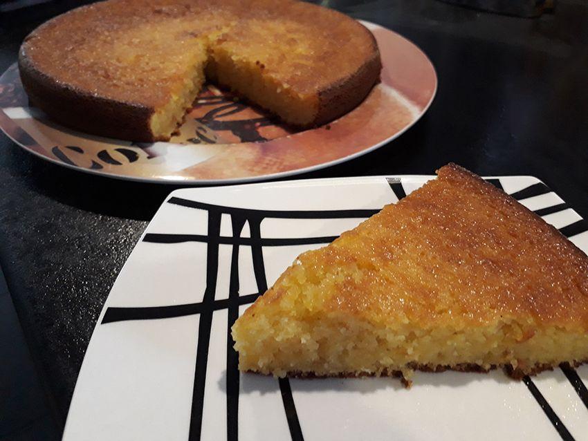 Vous prendrez bien une part de mon gâteau fondant à l'orange.