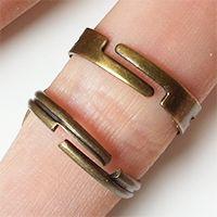 Bijoux réglables, anneaux de bagues.
