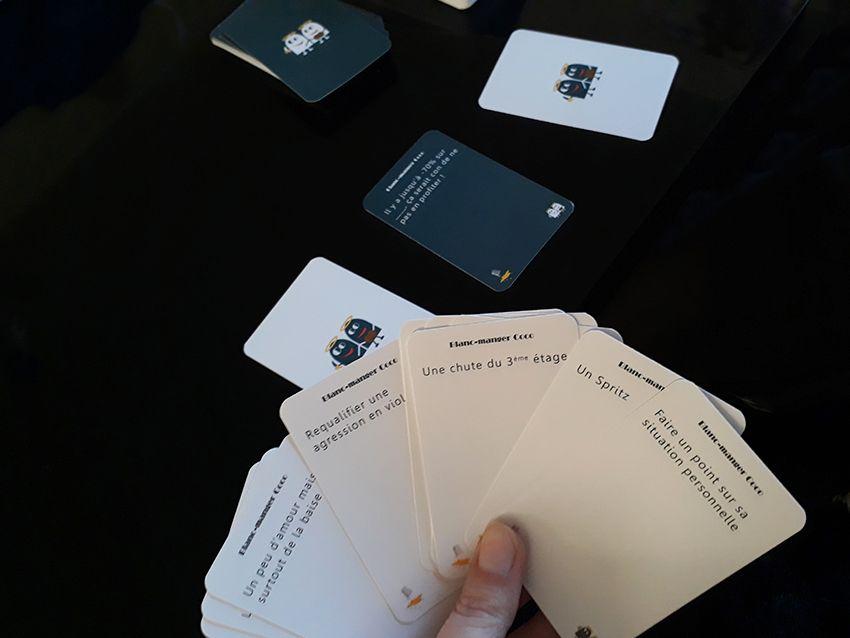 Blanc manger coco : jeu de cartes.