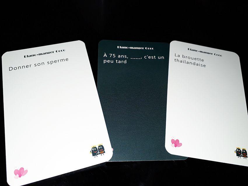 Blanc manger coco : un jeu de cartes pour adultes adeptes du second degré.