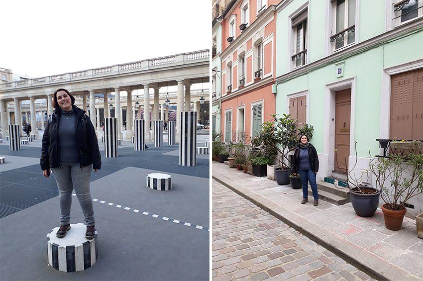Blogueuse mode à Paris : colonnes de Buren et Rue Crémieux.