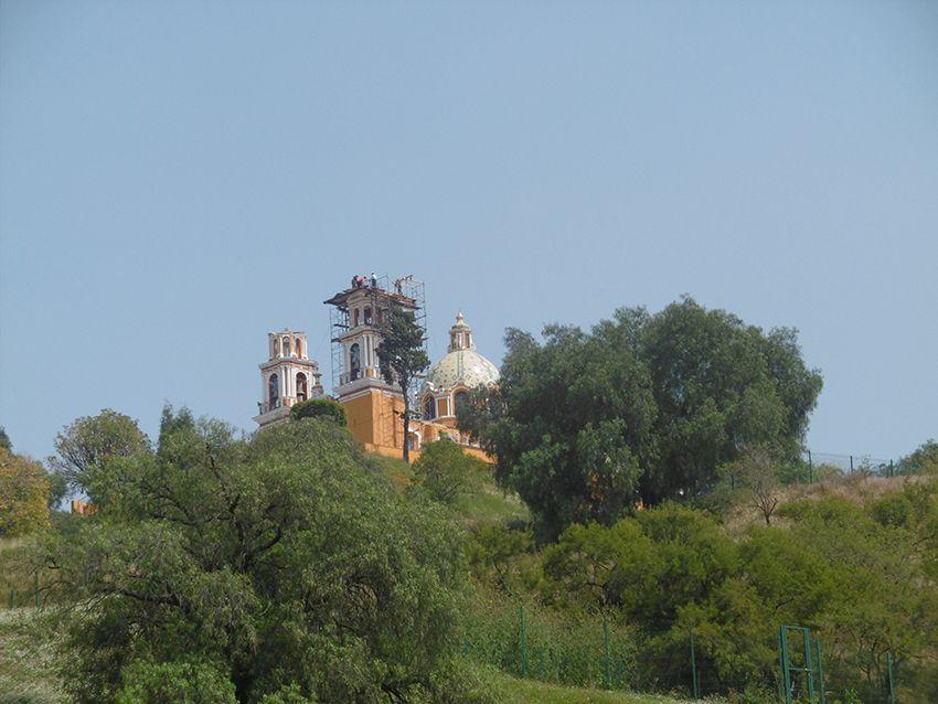 Église de Cholula au Mexique.