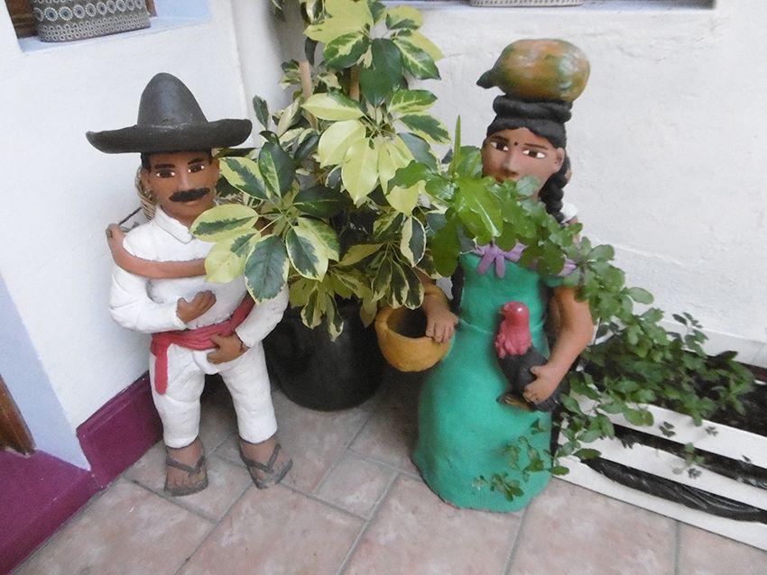 Décorations mexicaines dans le B&B el Diablo y la sandia à Oaxaca.