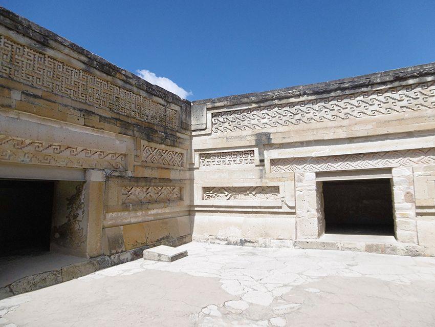 Frises du temple de Mitla, au Mexique.