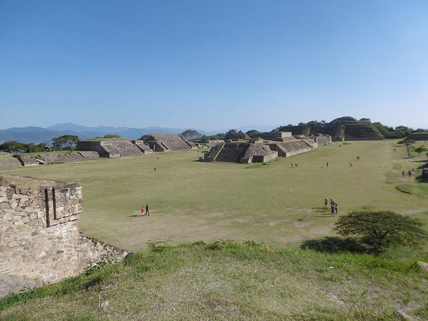 Pyramides de Monte Alban au Mexique.