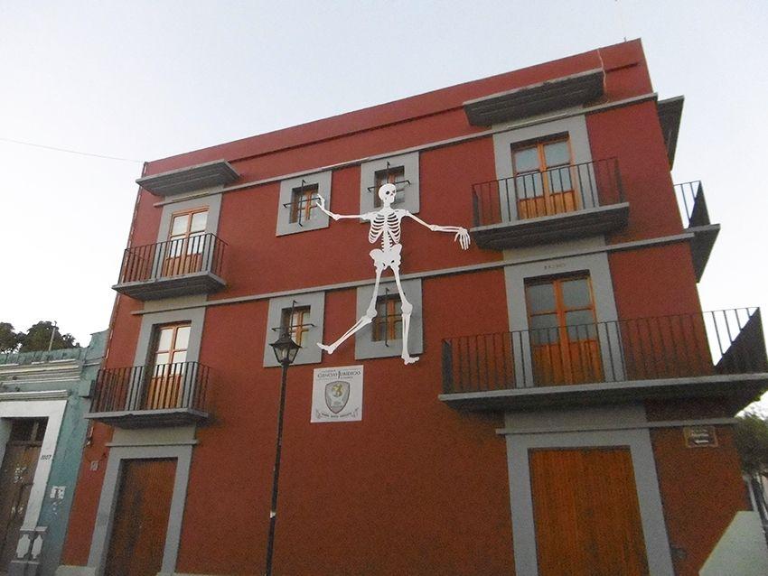 Décoration squelette à Oaxaca pendant le jour des morts.