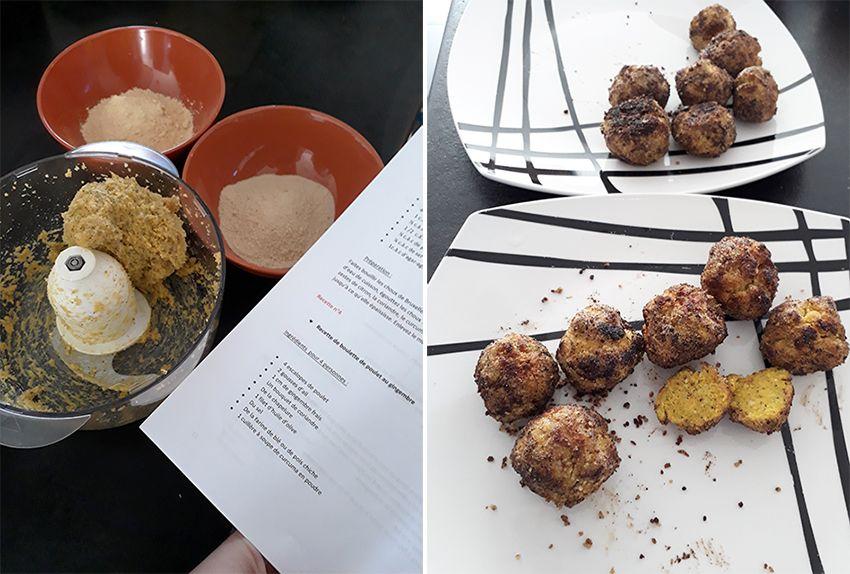 Recette ayurvedique : boulettes de poulet au gingembre pour diminuer Kapha.