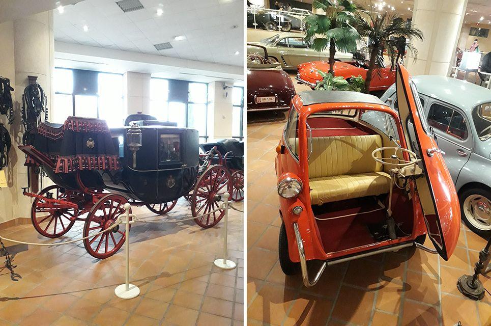 Carosse dans le musée de l'Automobile à Monaco.
