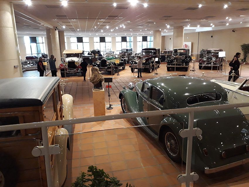 Collection de SAS le Prince au musée de l'Automobile à Monaco.