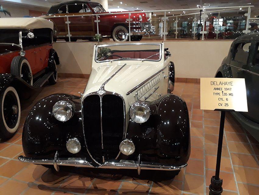 Delahaye de 1947 dans le musée de l'Automobile à Monaco.