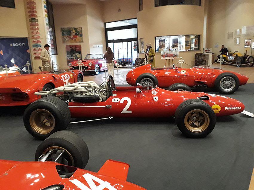 Exposition Ferrari au musée de l'Automobile à Monaco.