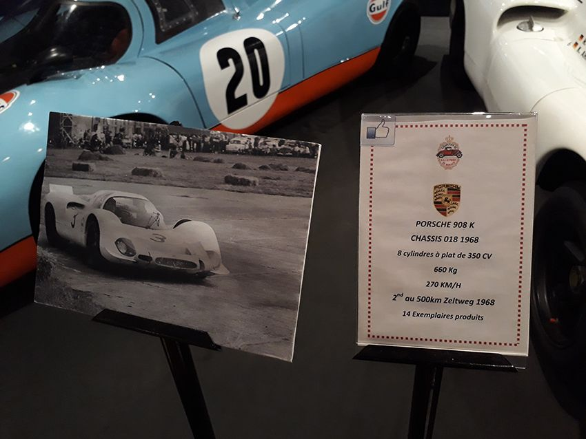 Porsche 908K dans le musée de l'Automobile à Monaco.