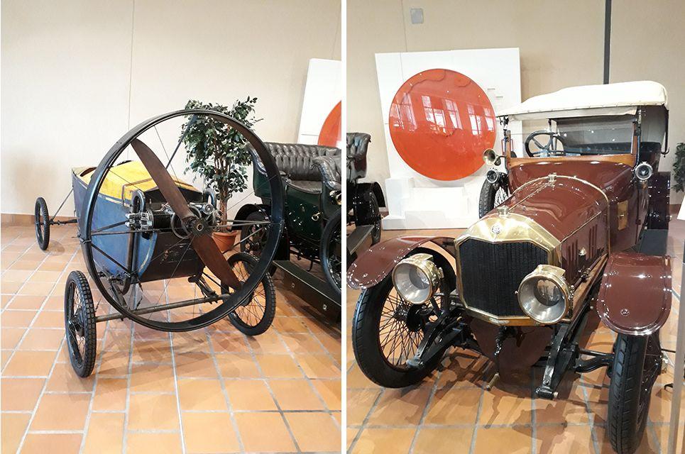 Voitures anciennes dans le musée de l'Automobile à Monaco.