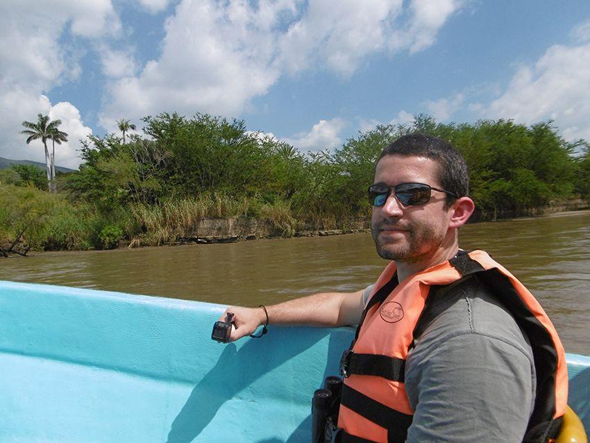 Embarquation sur le rio Grijalva au Mexique pour découvrir le canyon del Sumidero.