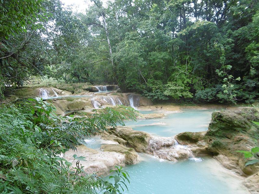 Cascades d'Agua Azul dans le Chiapas, au Mexique.