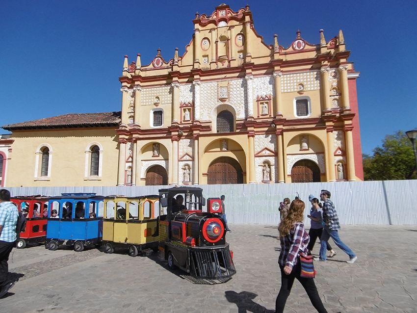 Cathédrale de San Cristobal de las casas au Mexique.