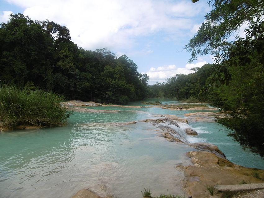 Agua Azul dans le Chiapas, au Mexique.