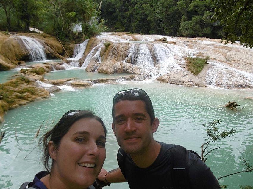 Cascades d'Agua Azul au Mexique.