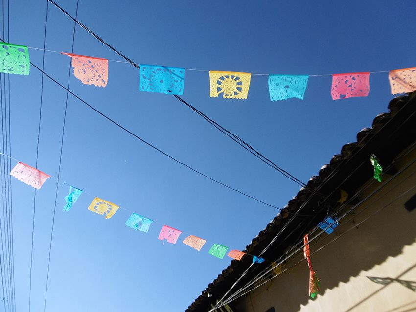 Banderole de papel picado au Mexique.